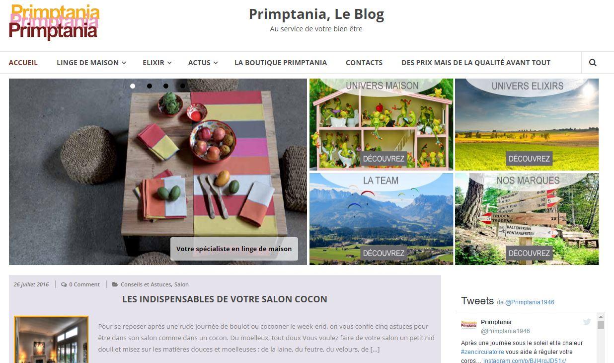 Découvrez le Blog Primptania
